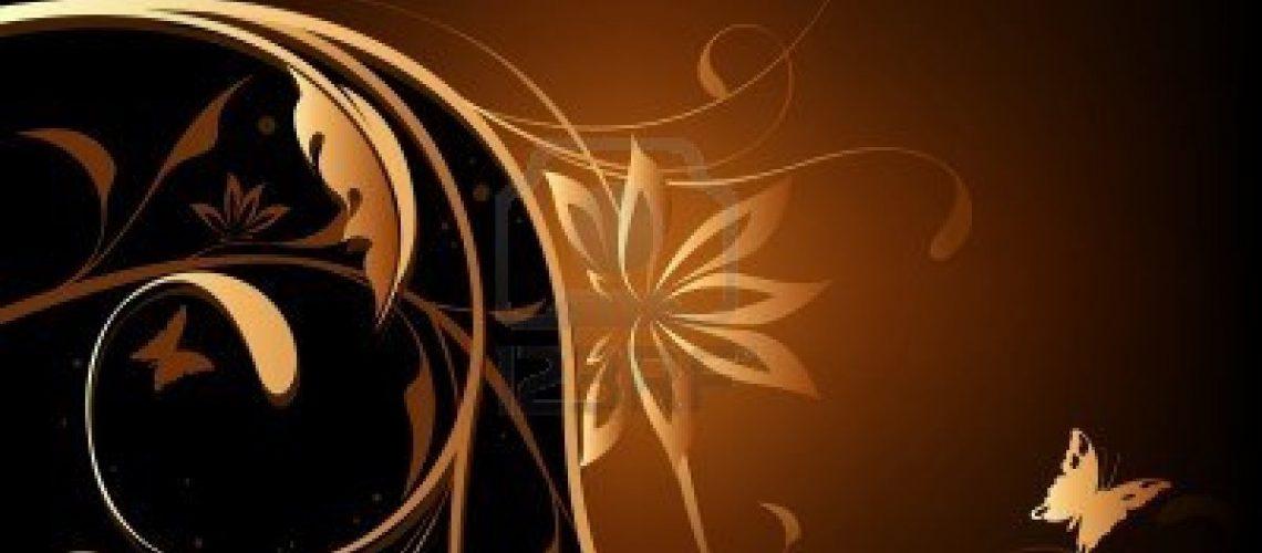 2497363-brown-orange-floral-background